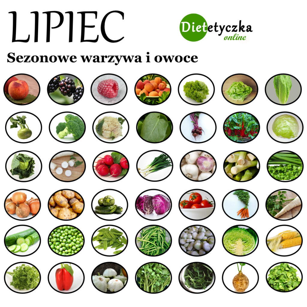 Sezonowe warzywa i owoce - lipiec