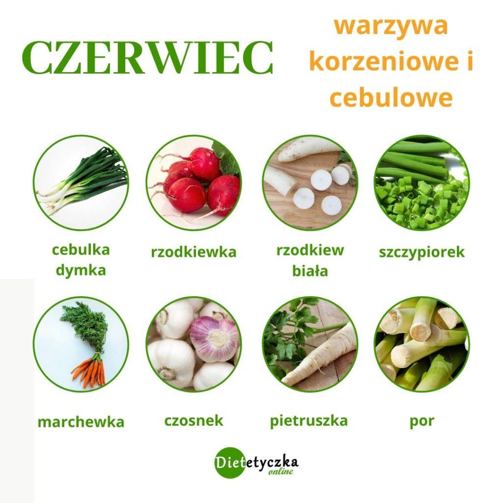 Czerwiec sezonowo - warzywa korzeniowe i cebulowe