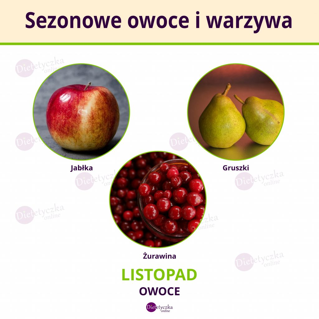 Listopad sezonowe warzywa i owoce